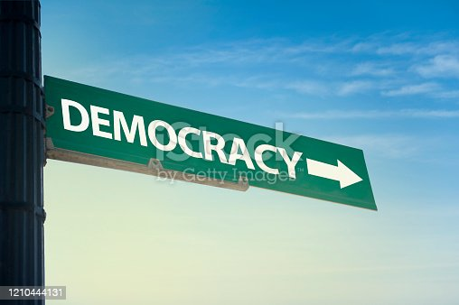 DEMOCRACY / Traffic sign concept (Click for more)