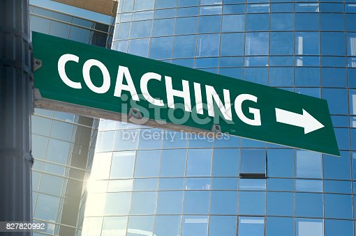 istock COACHING / Traffic Sign Concept (Click for more) 827820992