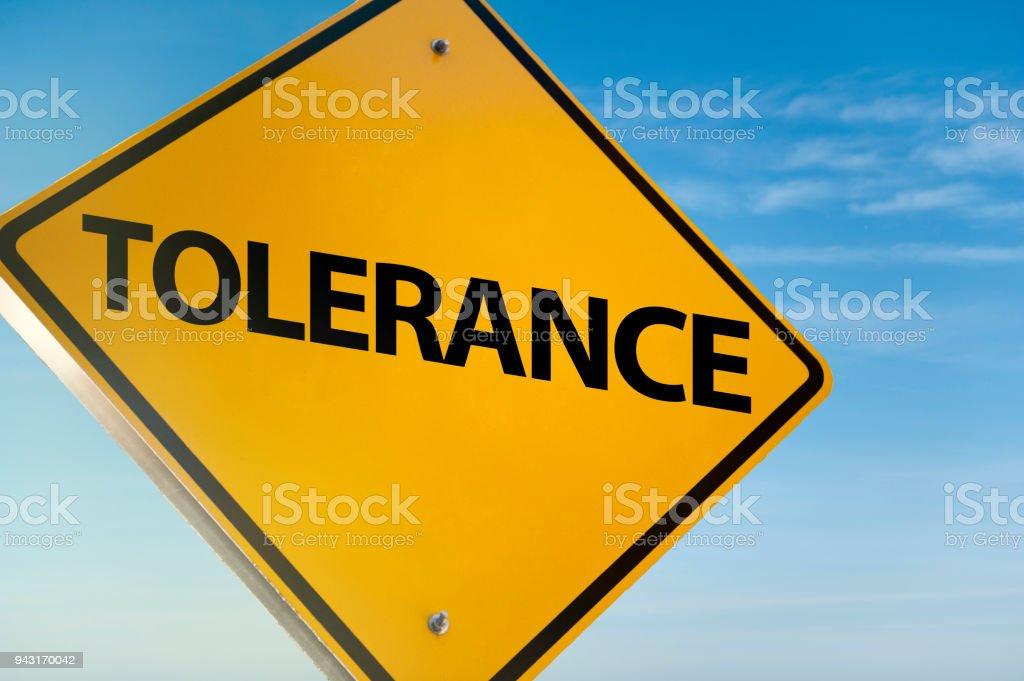 Notion de tolérance /Traffic signe (cliquez pour en savoir plus) - Photo