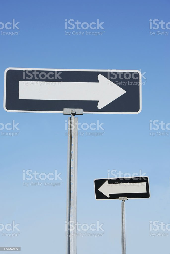traffic sign confusion royalty-free stock photo