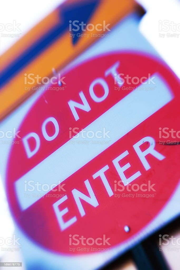 Eine Ampel – geben Sie nicht Lizenzfreies stock-foto