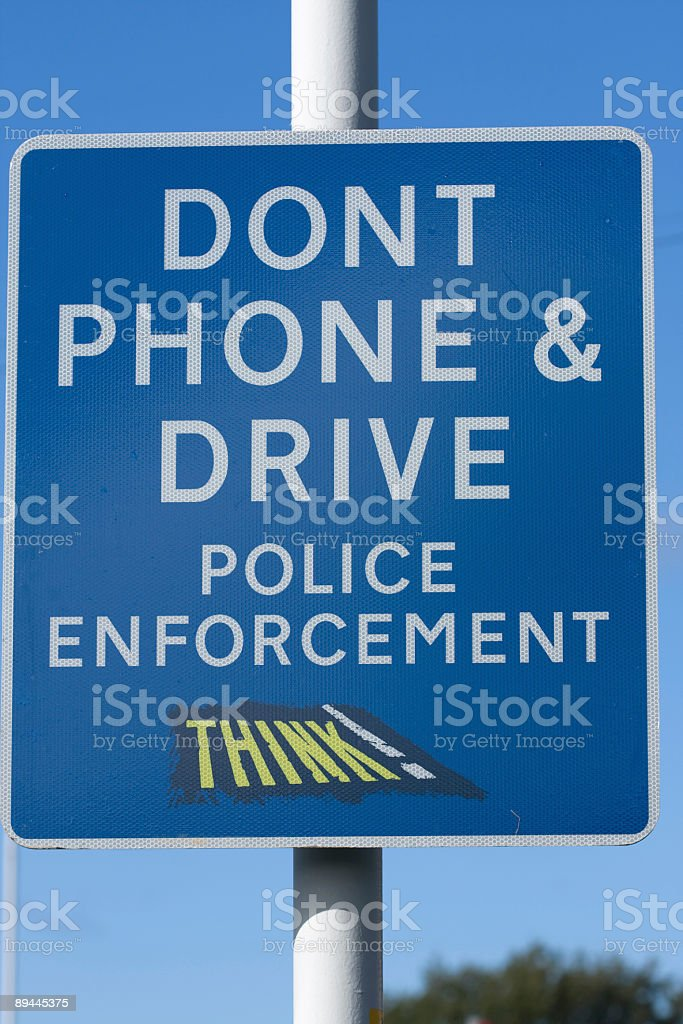 Traffic sign Dontphone and Drive royalty-free stock photo