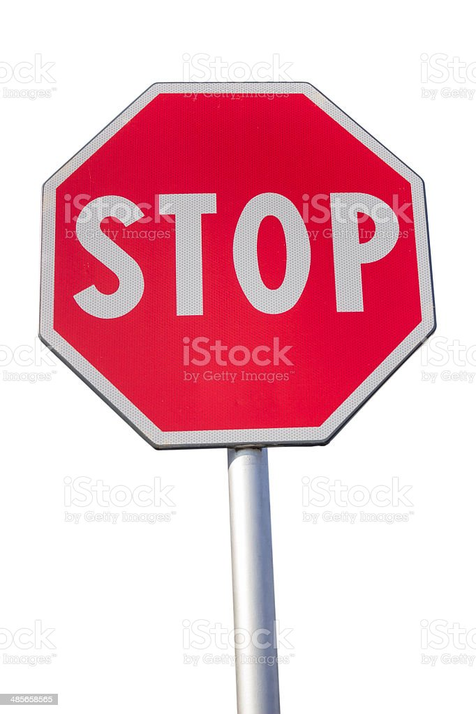 Traffic sign for stop stock photo