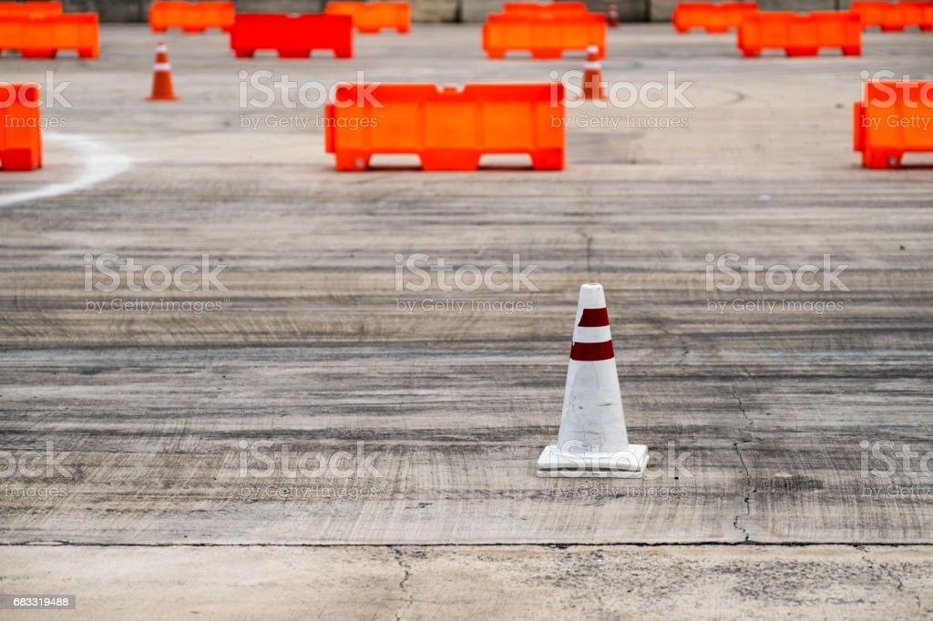 Traffic Sign in Test Car. royalty-free stock photo