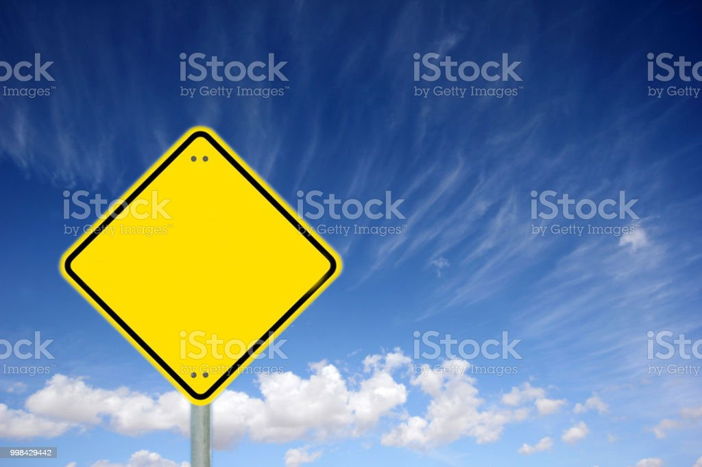 traffic sign is empty stock photo