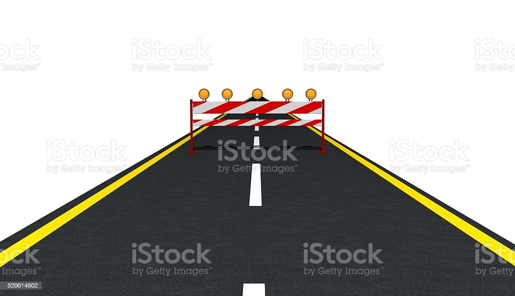Traffic Sign on the Road stock photo