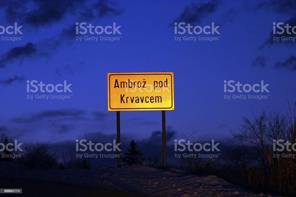 Дорожный знак Стоковые фото Стоковая фотография