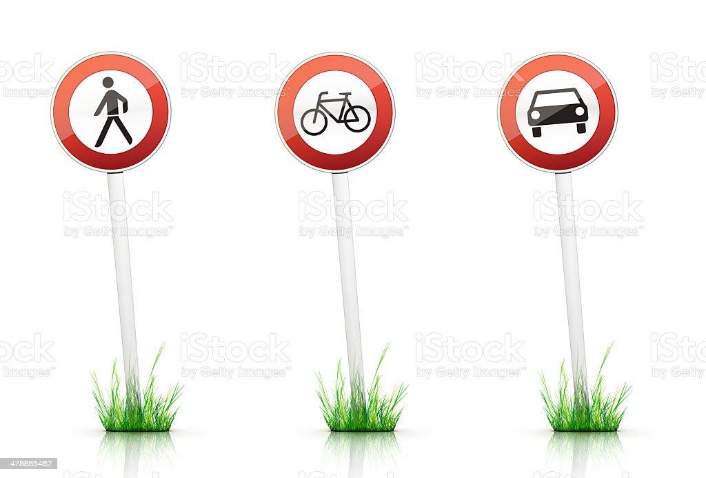 Traffic Sign – Warning stock photo