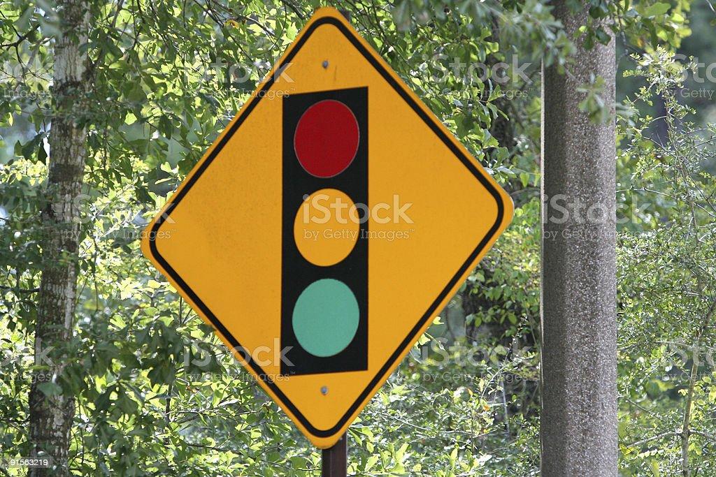 Traffic Signal Ahead royalty-free stock photo