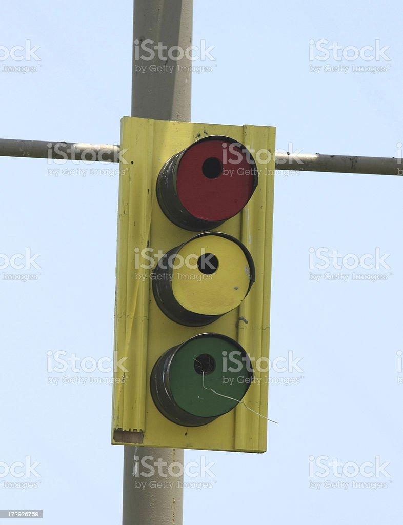 Traffic Signal Birdhouse royalty-free stock photo