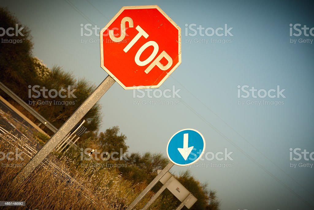 traffic signal stop and obligation to address stock photo