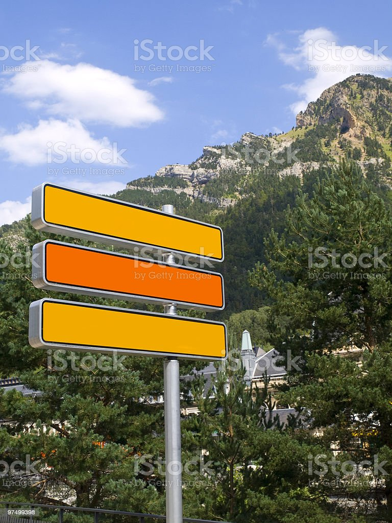 Traffic signs royalty-free stock photo
