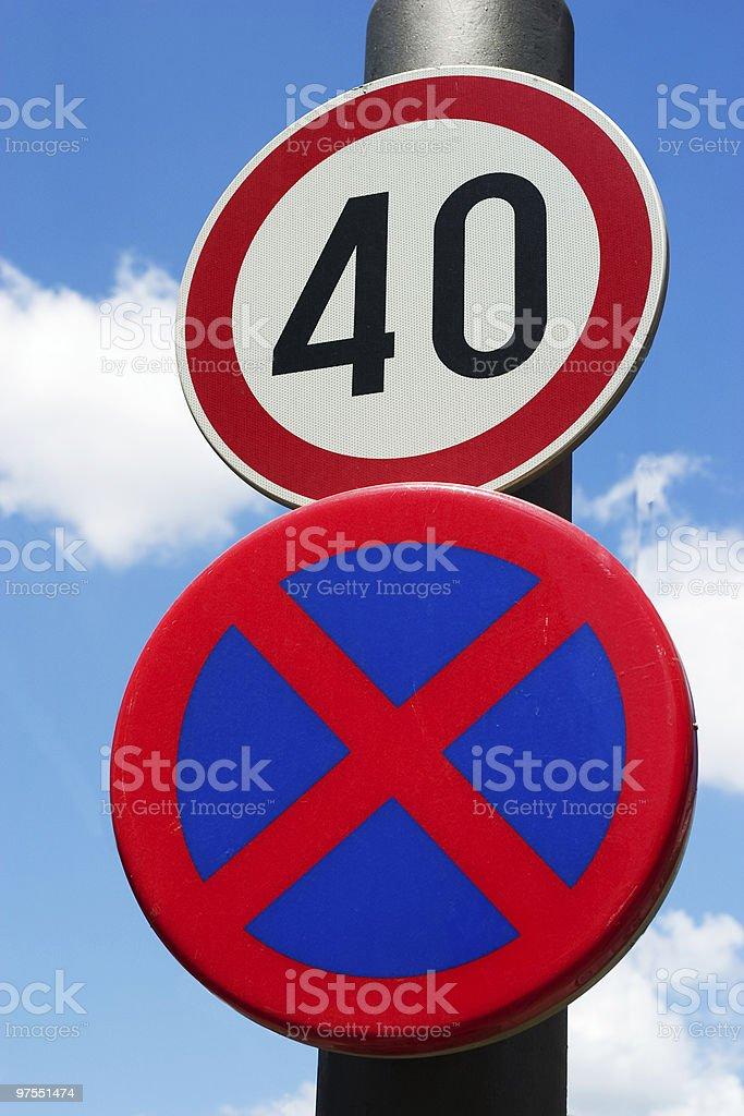Panneaux de signalisation photo libre de droits