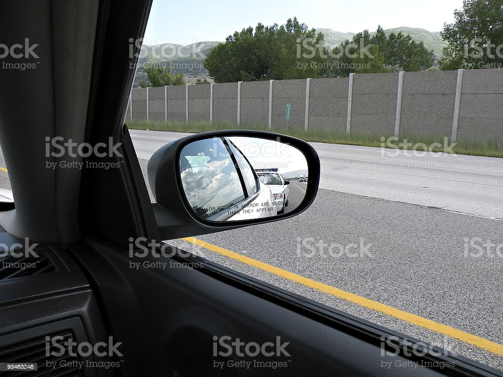 Traffic Stop stock photo
