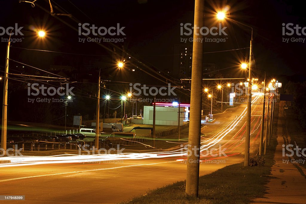 Traffic Through City royalty-free stock photo
