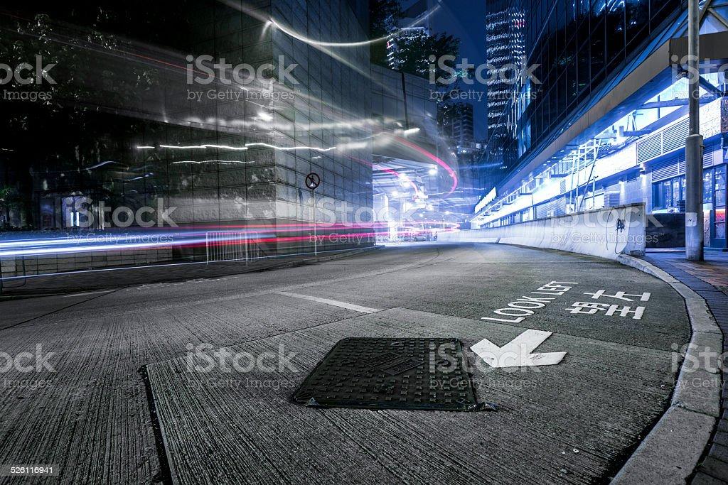traffic through hong kong stock photo