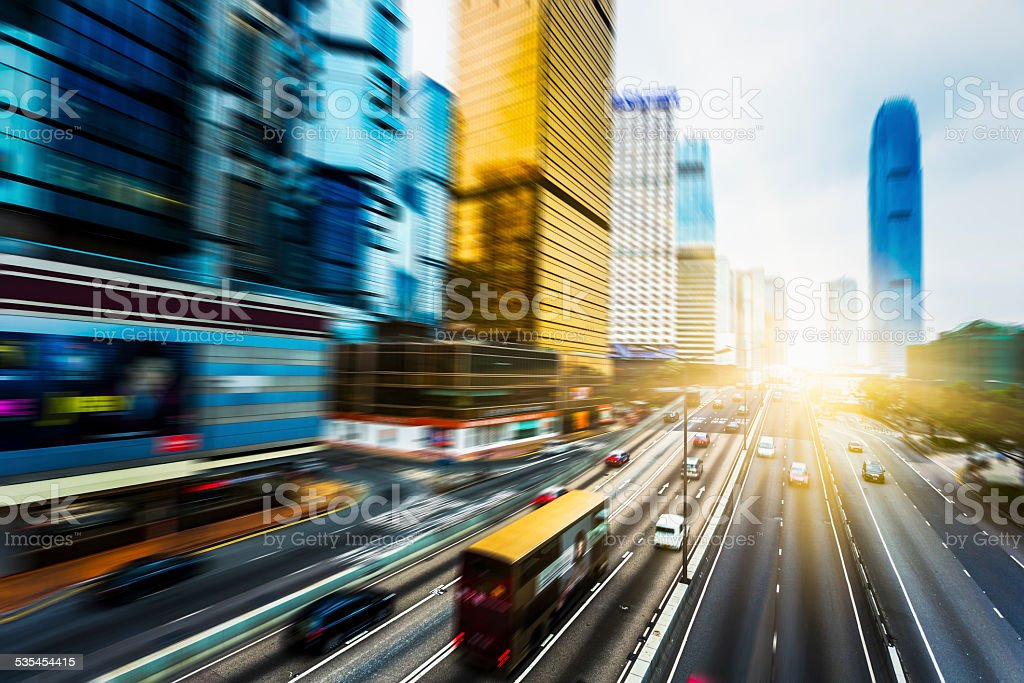 traffic through hong kong stock photo