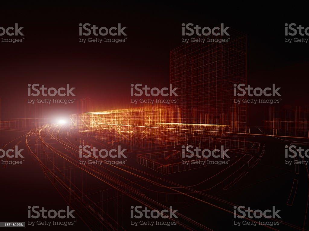 Traffic through the city royalty-free stock photo