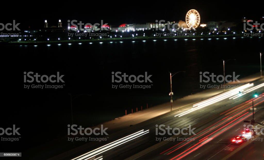 Traffic time Lapse stock photo