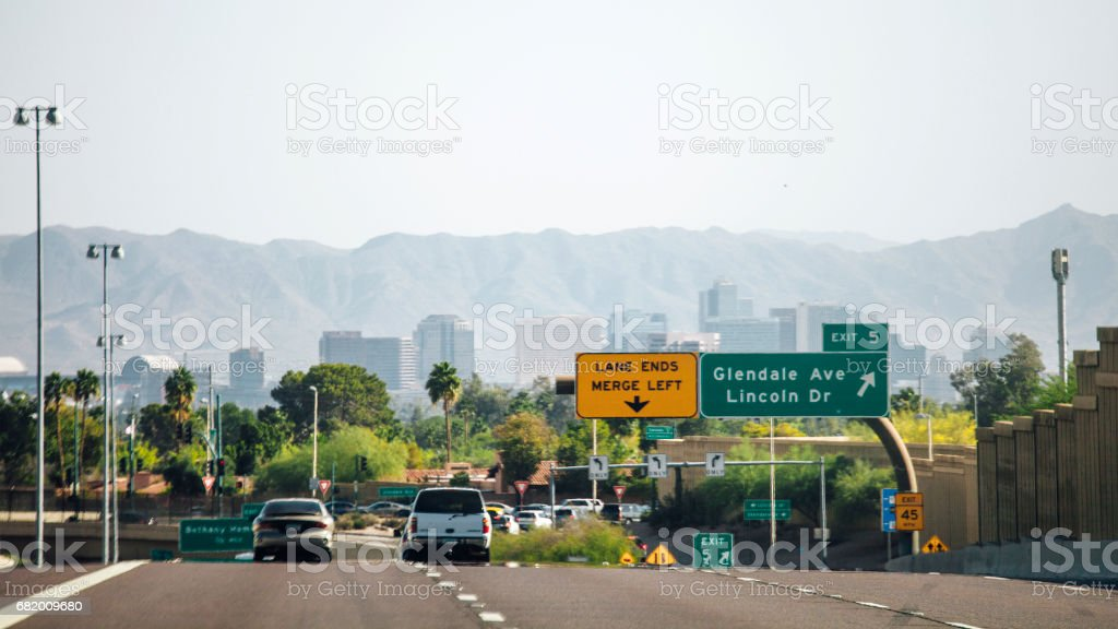 Traffic to Phoenix, Arizona. stock photo