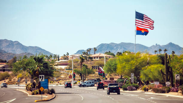 Tráfego para Phoenix, Arizona. - foto de acervo