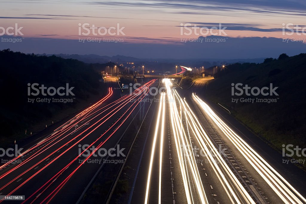 Traffic trails royalty-free stock photo