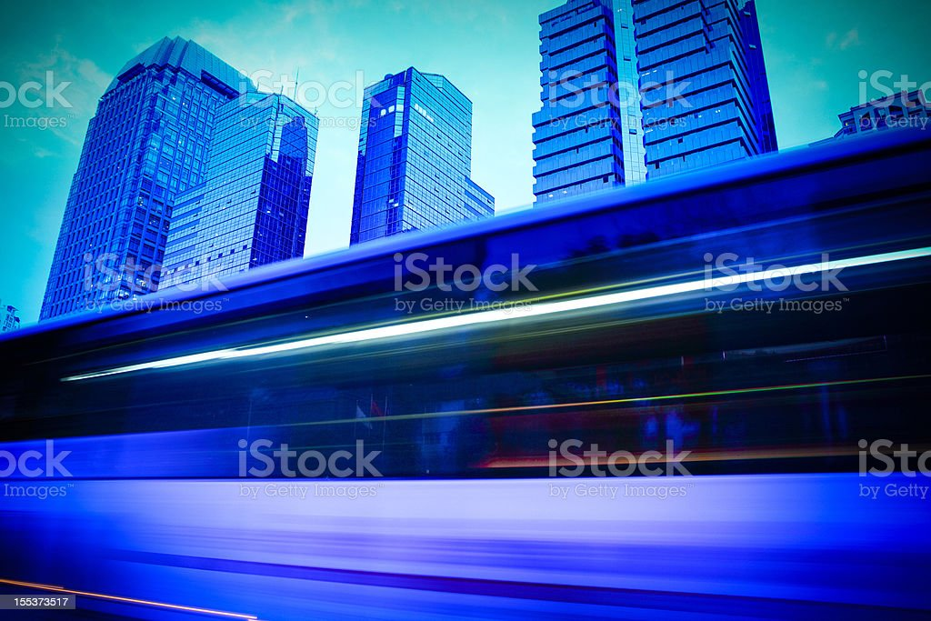 Traffic trough city royalty-free stock photo