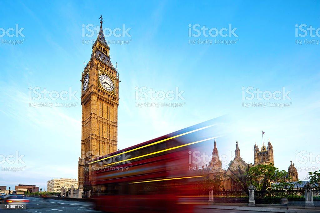 Traffic trough London royalty-free stock photo