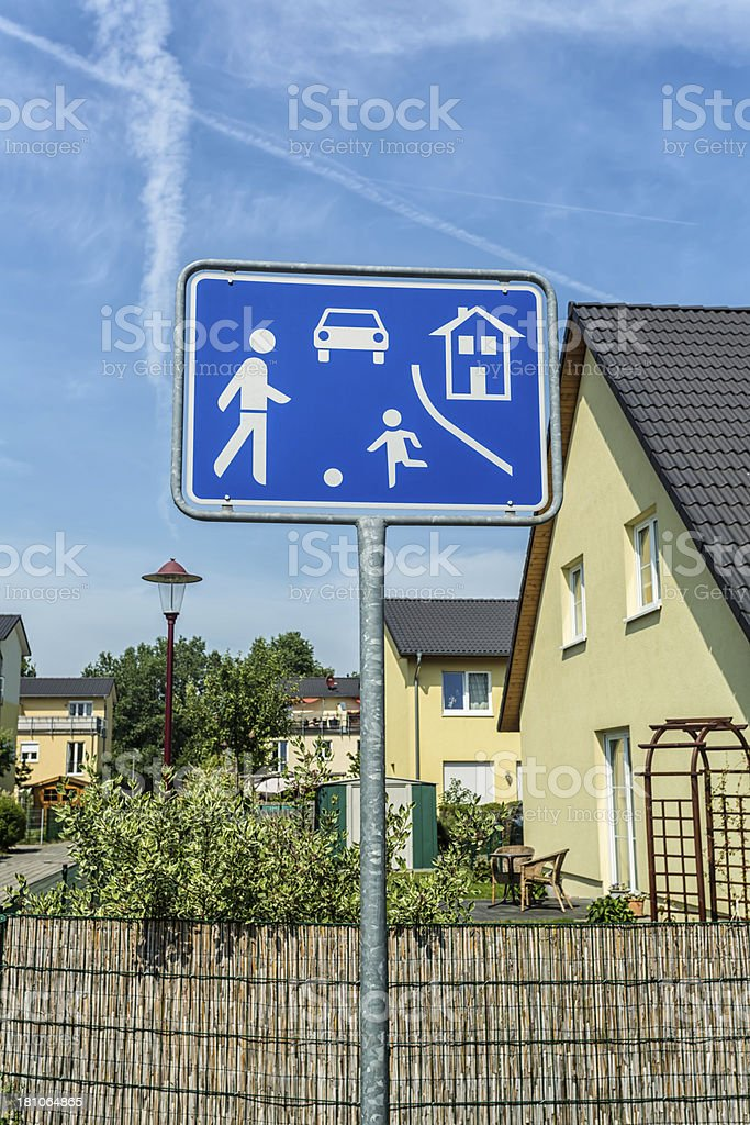 Traffic-calmed area in Germany royalty-free stock photo