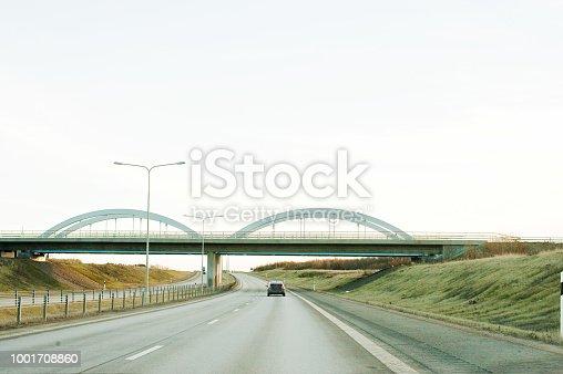 144334852 istock photo Traffic-Free International E-Road Network Motorway 1001708860