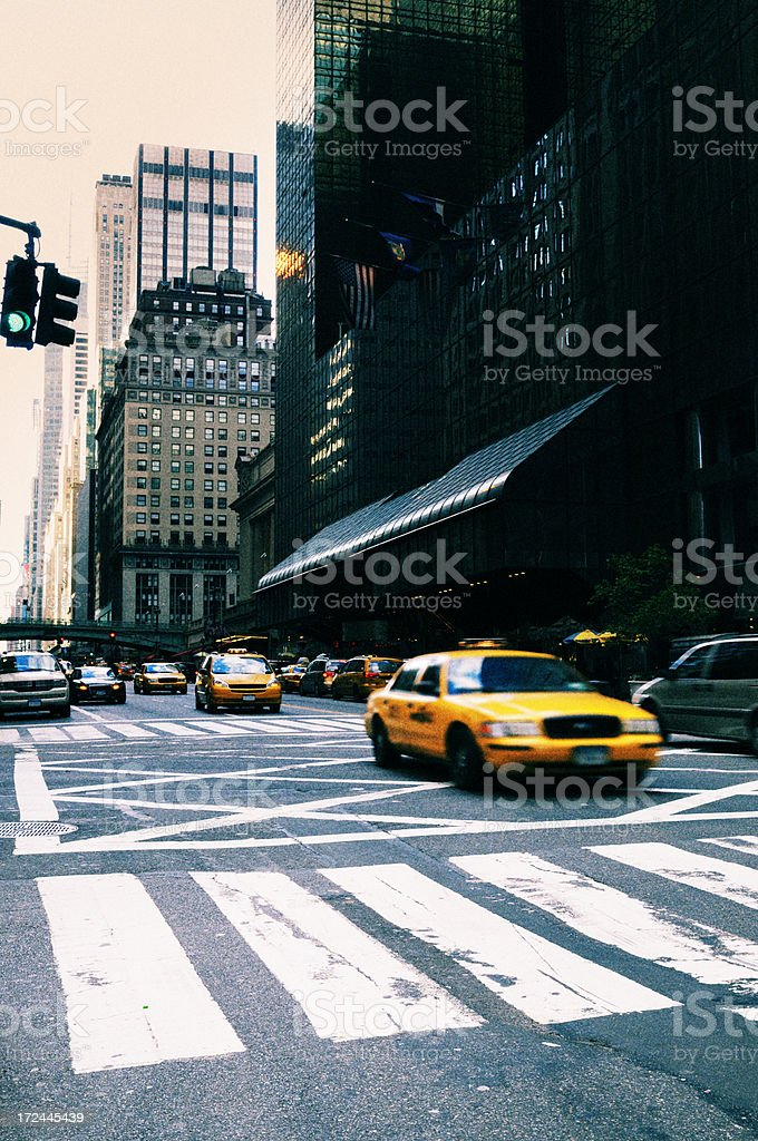 Traffic,NYC. royalty-free stock photo