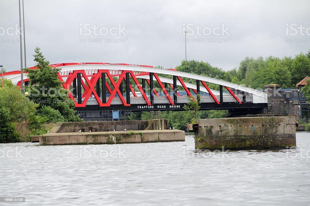 trafford road bridge stock photo
