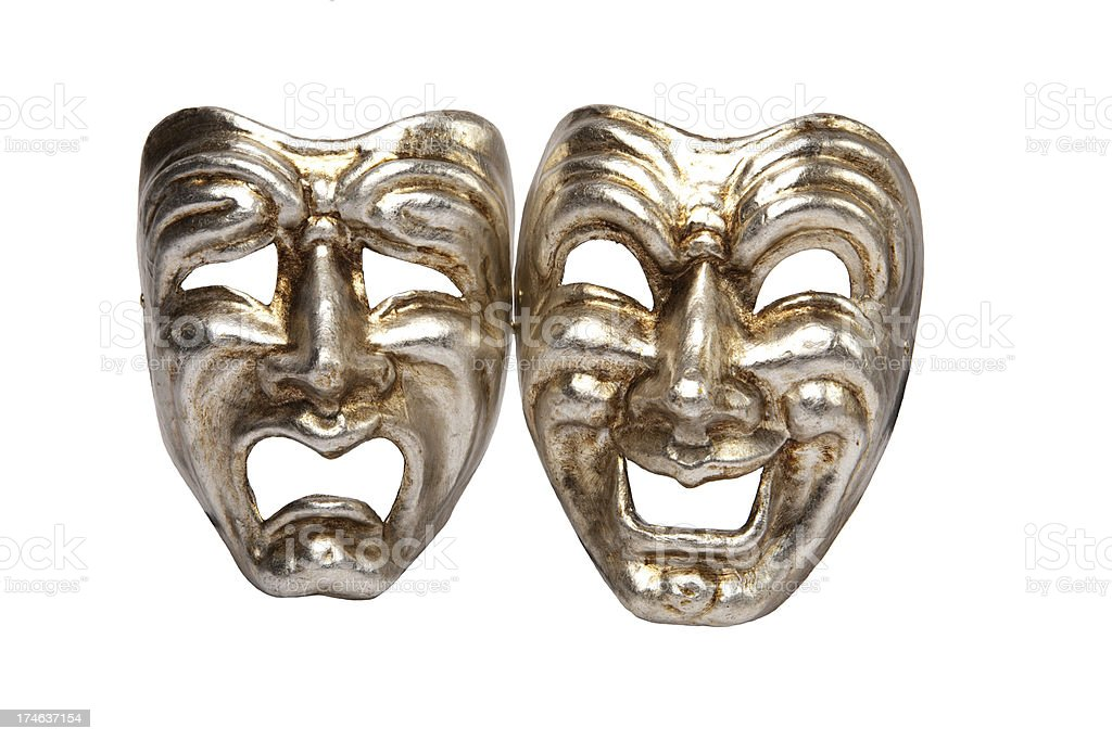 Tragedy and comedy masks royalty-free stock photo
