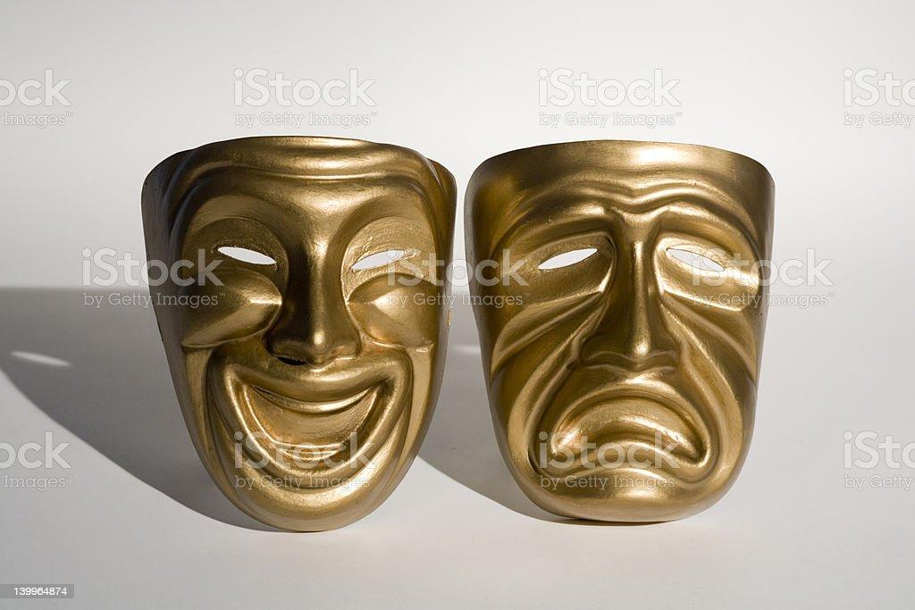 tragedy & comedy masks stock photo