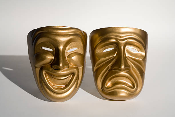 tragedy & comedy masks stock photo