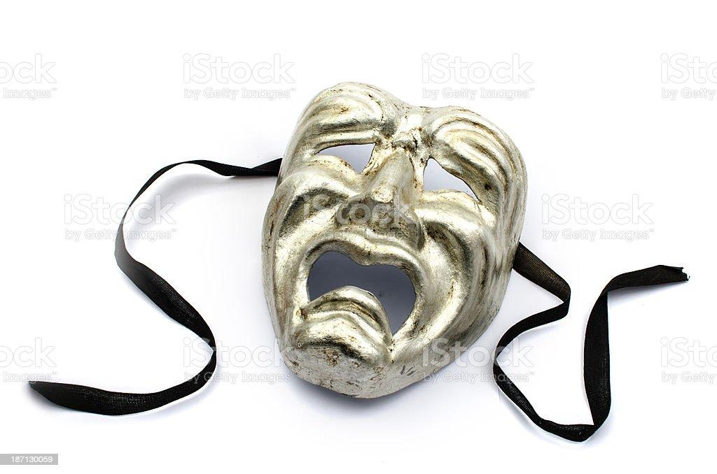 Tragedy mask stock photo
