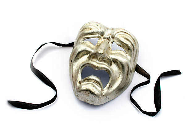 tragedy mask - tragedy mask stock photos and pictures
