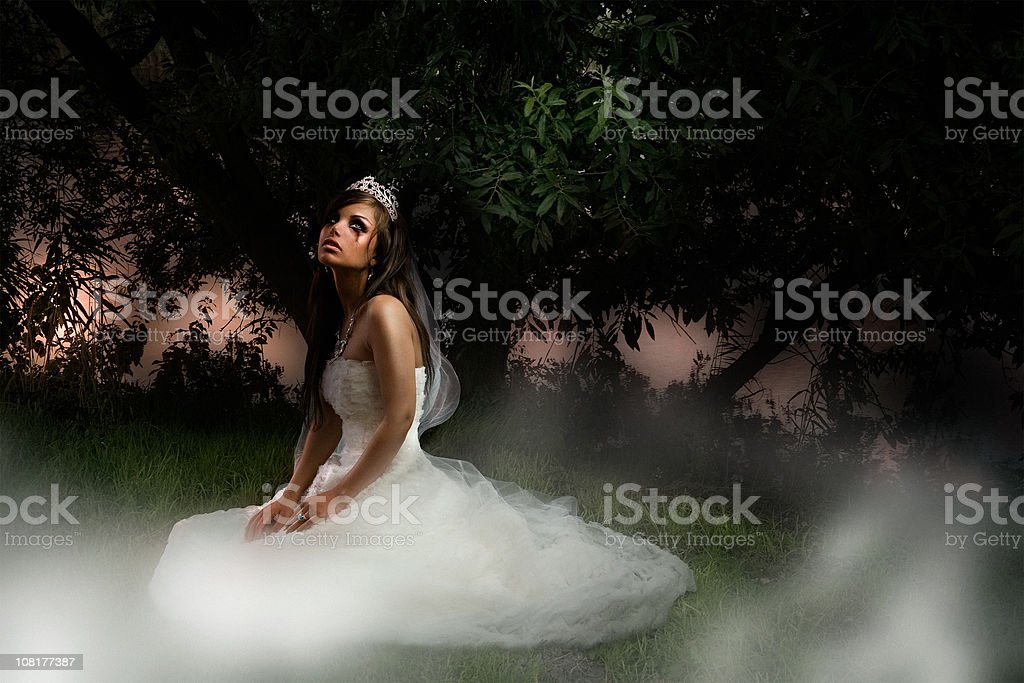 Tragic Bride royalty-free stock photo