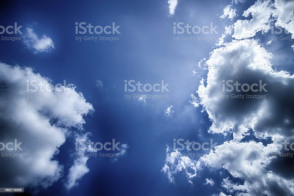 Tragic clouds royalty-free stock photo