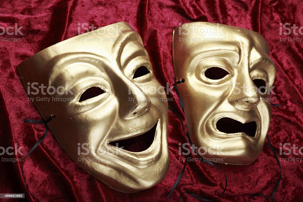 Tragicomedy Masks stock photo