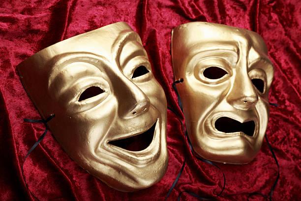 Tragicomedy Masks stock photo