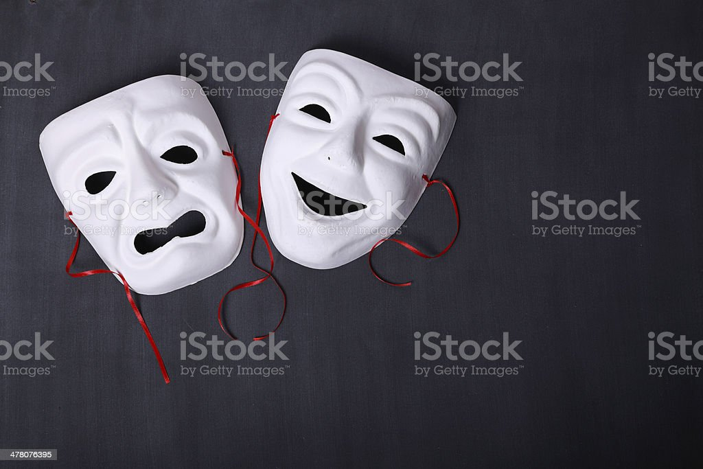 Tragicomedy stock photo