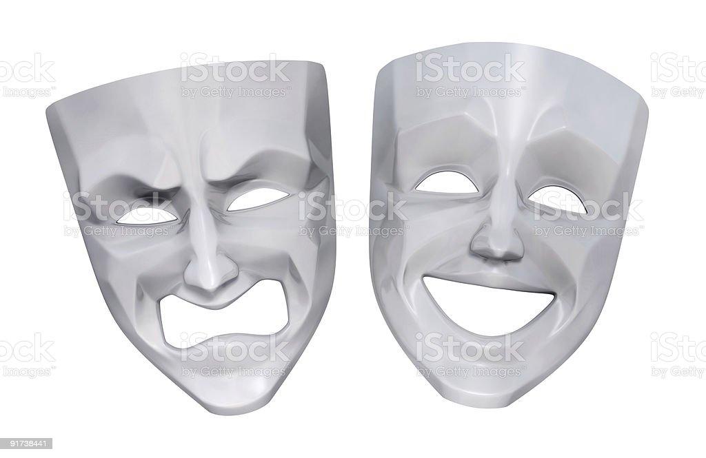 Tragicomic Theater Masks royalty-free stock photo