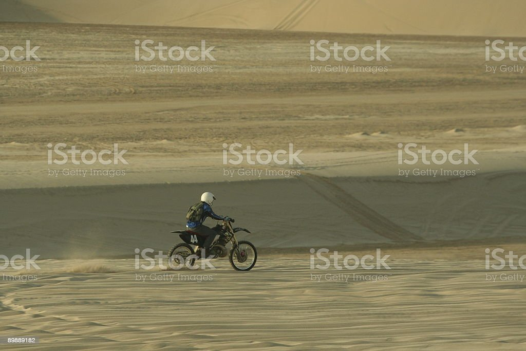 Trail Bike in the Desert royalty-free stock photo