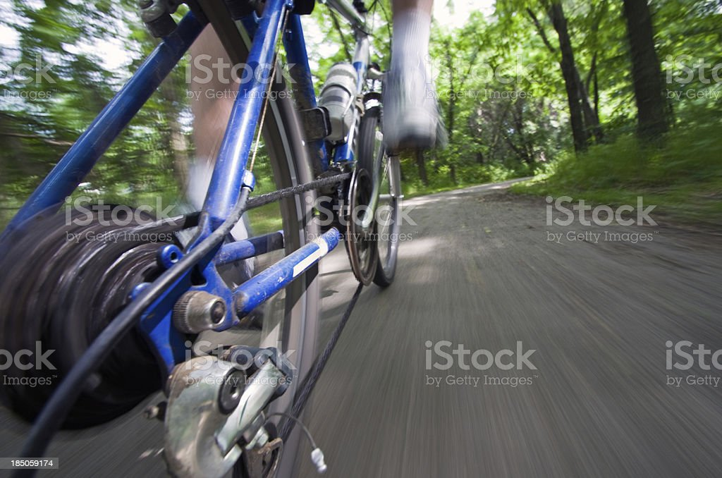Trail biking stock photo