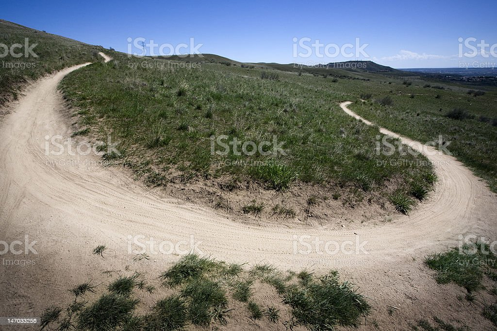 Trail Dirt Bike Path royalty-free stock photo