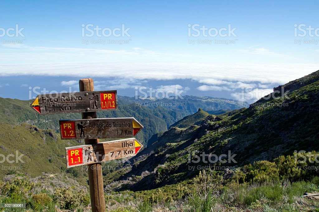 Trail in Madeira stock photo