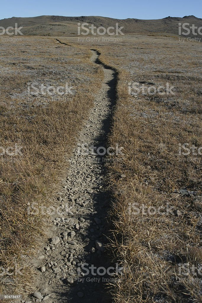 Trail into the wilderness royalty-free stock photo
