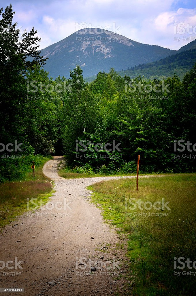 ATV Trail Junction in Stratford NH royalty-free stock photo