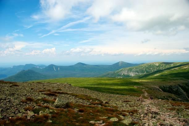 Trail Leading to Summit of Mt. Katahdin stock photo